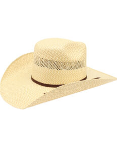 Ariat Men's 20X Twister Americana Straw Hat , Natural, hi-res