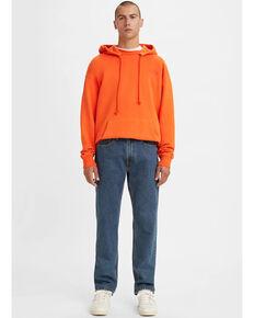 Levi's Men's 505 Dark Stonewash Rigid Classic Straight Leg Jeans , Blue, hi-res