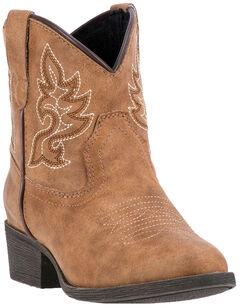 Laredo Girls' Tan Chloe Cowgirl Boots - Round Toe, Tan, hi-res