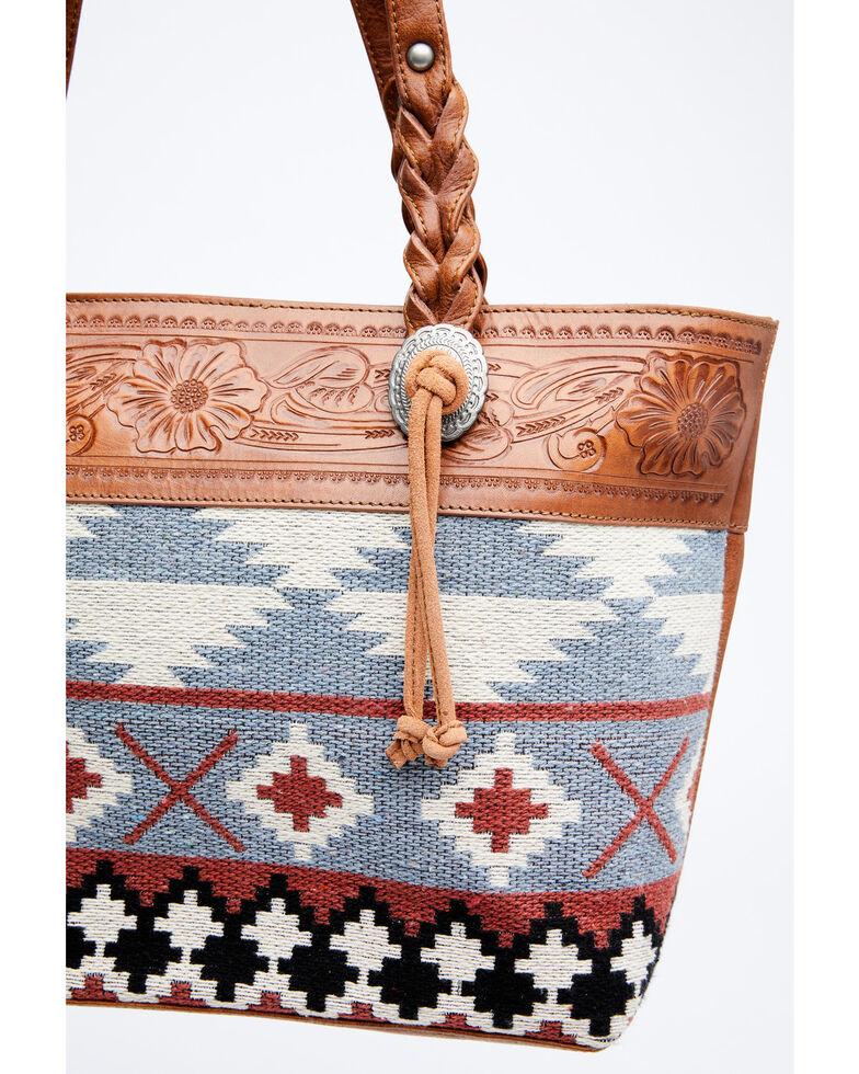 Shyanne Women's Odessa Serape Tote Bag, Lt Brown, hi-res