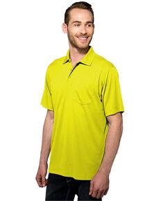 Tri-Mountain Men's Lime Green Vital Pocket Polo Shirt , Bright Green, hi-res