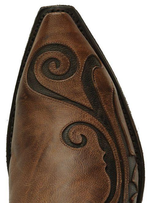 Dan Post Inlay Western Boots, Brandy, hi-res