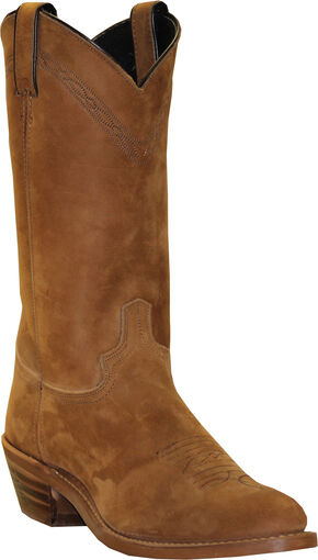 Abilene Men's Pull-On Western Boots - Square Toe, Dirty Brn, hi-res