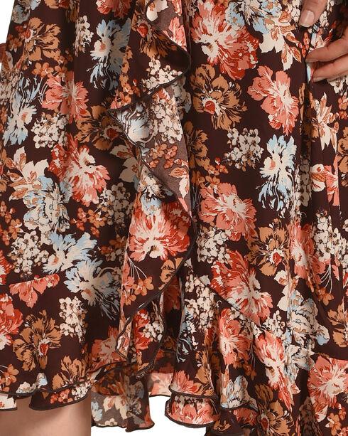 Wrangler Women's Brown Floral Print Dress , Brown, hi-res