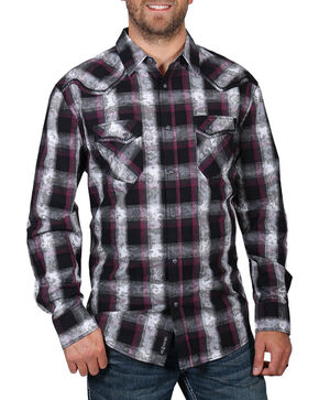 Moonshine Spirit Men's Paisley Plaid Long Sleeve Shirt , Multi, hi-res