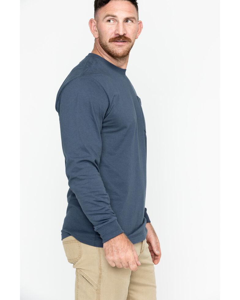 Carhartt Men's Pocket Long Sleeve Work Shirt - Tall, Steel Blue, hi-res