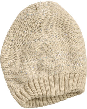 Shyanne Women's Shimmer Slouch Beanie, Cream, hi-res