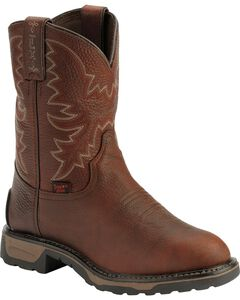 Tony Lama Youth TLX Briar Pitstop Western Work Cowboy Boots - Round Toe, Briar, hi-res