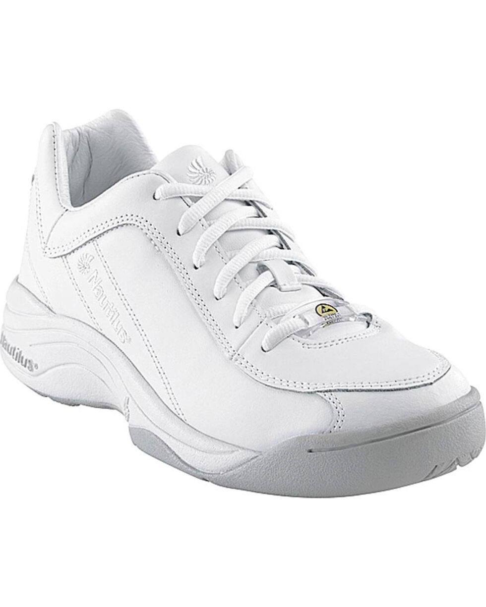 Nautilus Women's Soft Toe ESD Athletic Work Shoes, White, hi-res