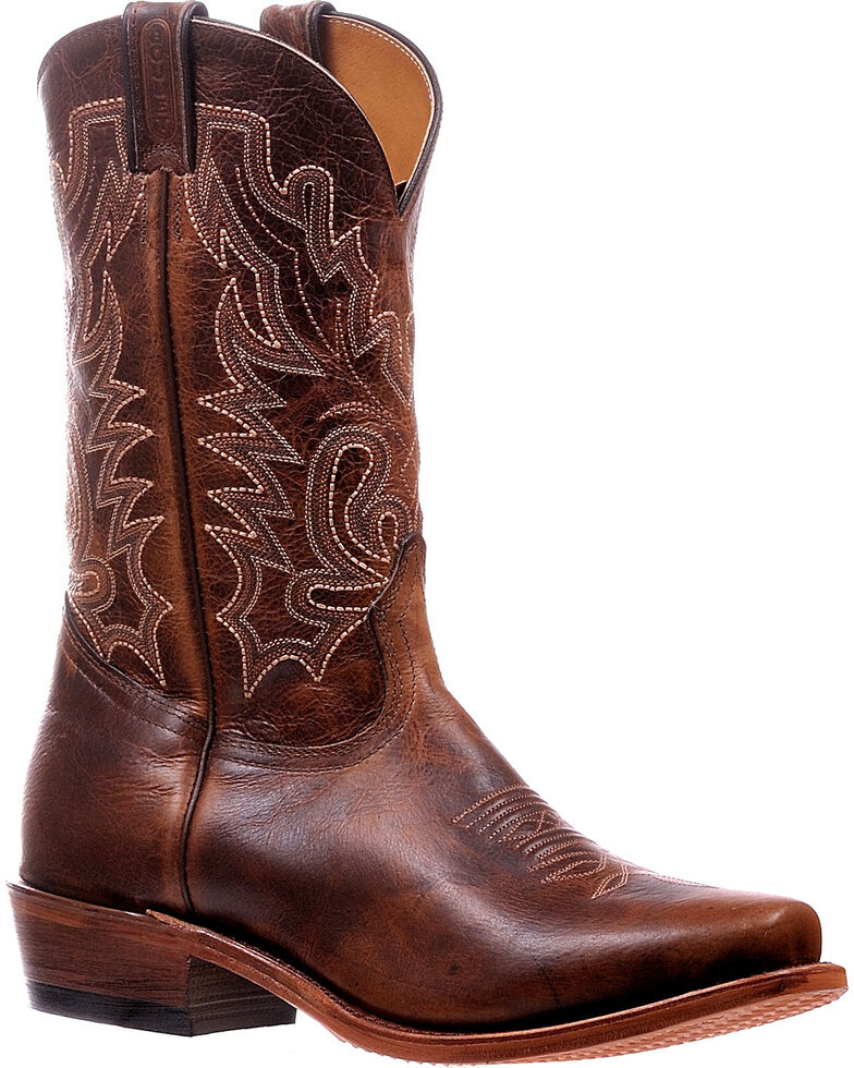 Boulet Men's Damiana Moka Cutter Cowboy Boots - Cutter Toe, Brown, hi-res