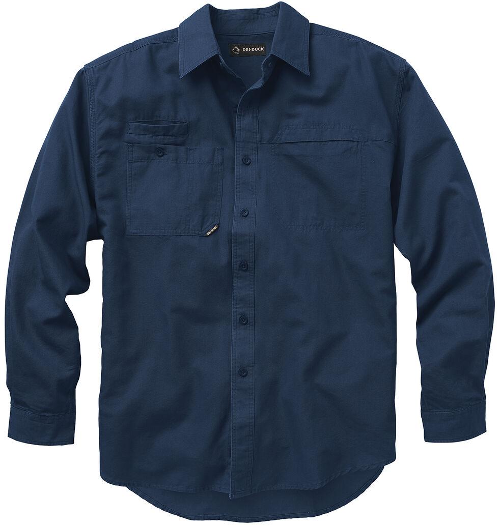 Dri Duck Men's Mason Work Shirt, Dark Blue, hi-res