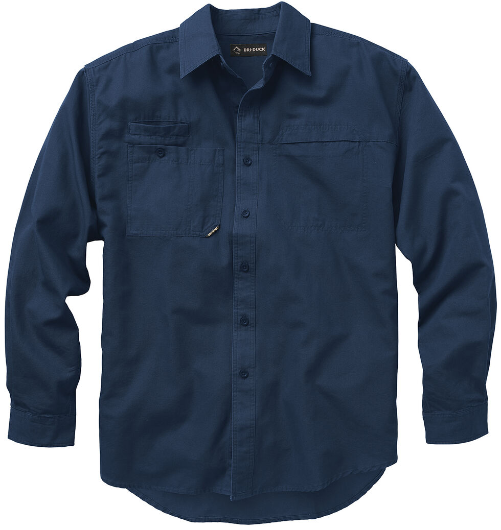 Dri Duck Men's Mason Work Shirt - Big and Tall, Dark Blue, hi-res