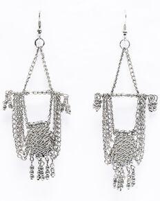 Shyanne Women's Chloe Silver Fancy Chain Chandelier Earrings, Silver, hi-res