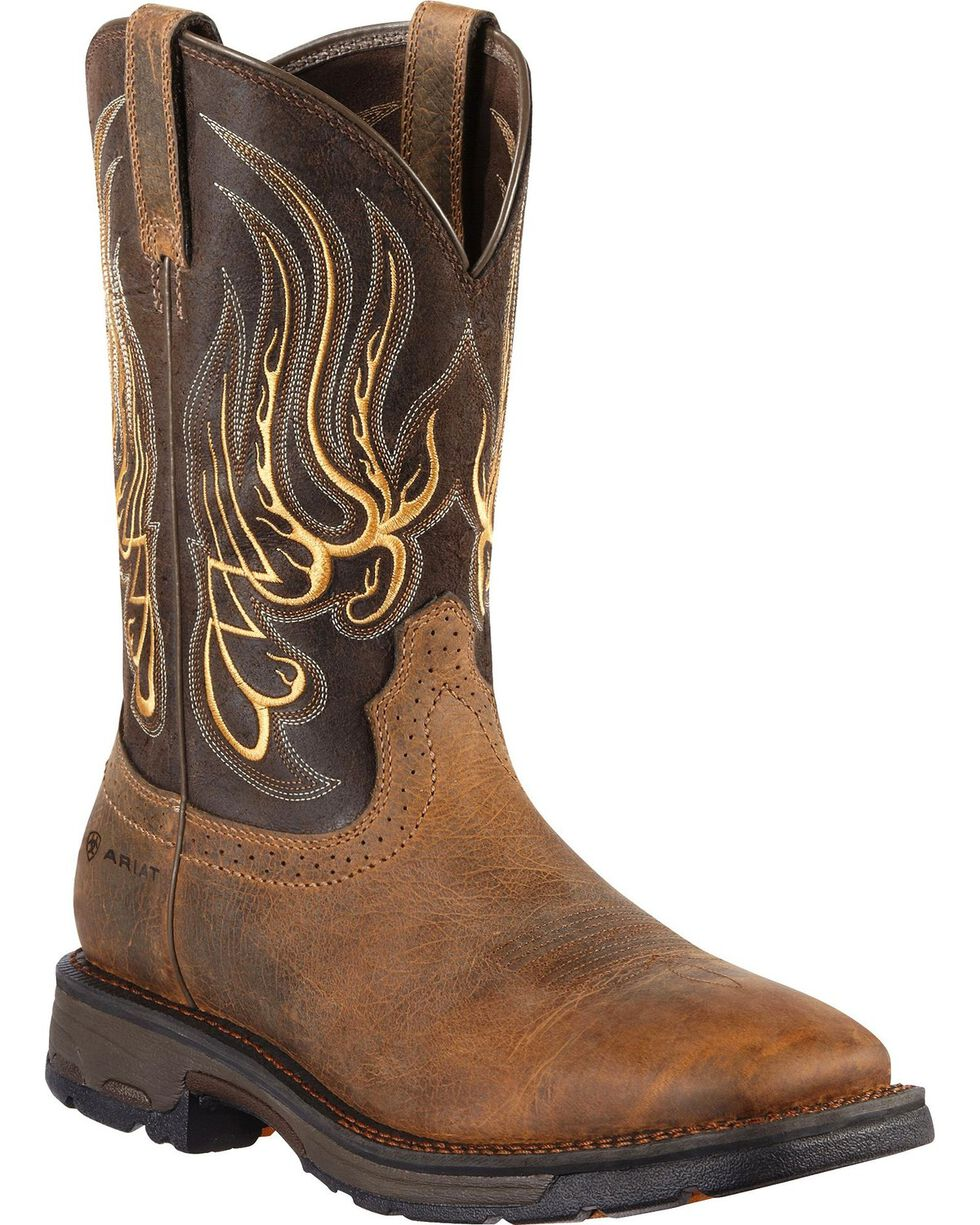 Ariat Workhog Mesteno Work Boots - Square Toe, Earth, hi-res