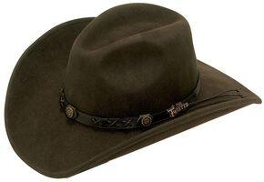 Twister Dakota Crushable Felt Hat, Brown, hi-res