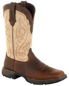 Durango Women's Lady Rebel Brown Western Boots - Square Toe, Bark, hi-res