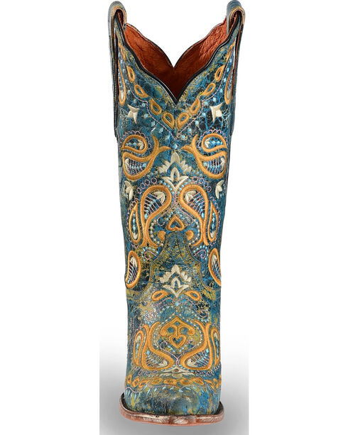 Dan Post Women's Turquoise Paisley Embroidered Western Boots - Snip Toe, , hi-res
