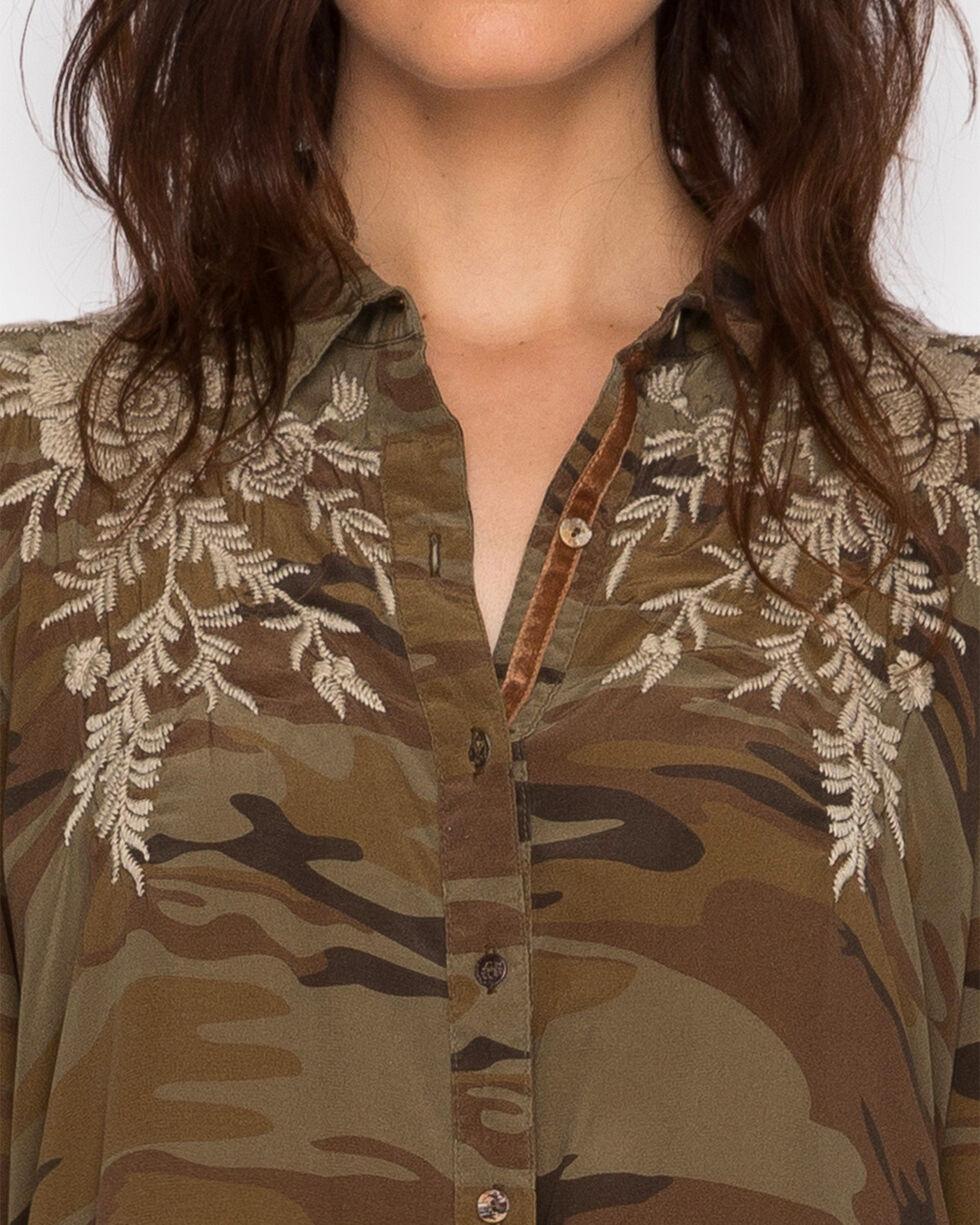 Johnny Was Women's Camo Lennon Swing Shirt Tunic , Camouflage, hi-res