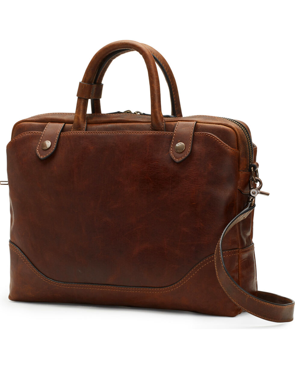 Frye Women's Dark Brown Logan Slim Brief Case, Dark Brown, hi-res