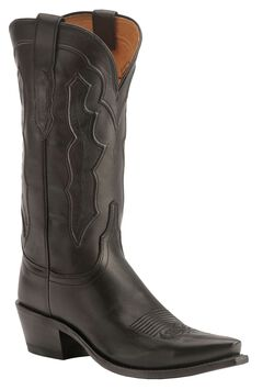Lucchese Handcrafted 1883 Fiona Ranch Hand Cowgirl Boots - Snip Toe, Black, hi-res
