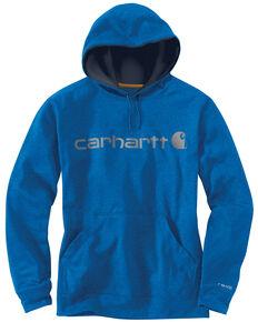 Carhartt Men's Dark Blue Force Extremes™ Signature Graphic Hooded Sweatshirt - Big and Tall, Dark Blue, hi-res