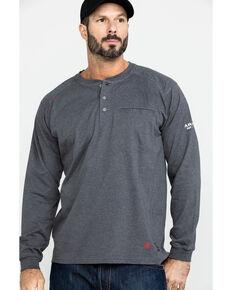 Ariat Men's FR Air Henley Long Sleeve Work Shirt , Charcoal, hi-res