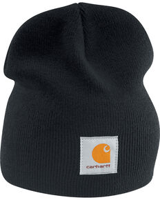 Carhartt Acrylic Knit Hat, Black, hi-res