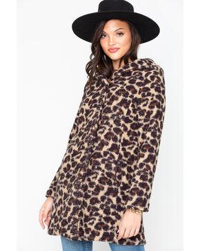 Ariat Women's Brown Cheetah Print Megan Coat , Brown, hi-res
