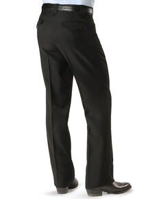 8a2158dc90c83a Circle S Mens Lubbock Stretch Slacks, Black, hi-res