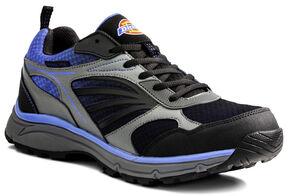 Dickies Men's Stride Athletic Work Shoes - Steel Toe, Blue, hi-res
