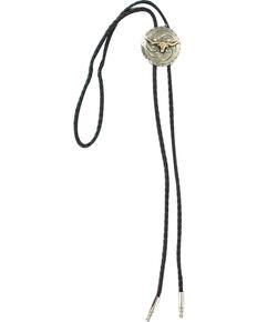 Cody James Men's Steer Head Bolo Tie, Silver, hi-res