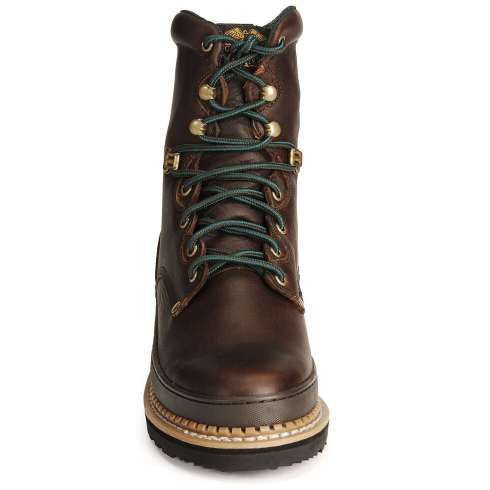 "Georgia Giant 8"" Lace-Up Work Boots - Steel Toe, Brown, hi-res"