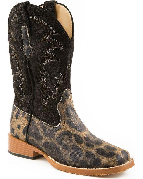 Roper Leopard Print Cowgirl Boots - Square Toe, Leopard, hi-res