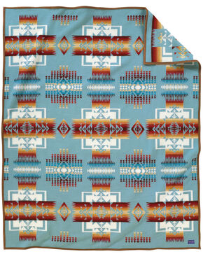 Pendleton Chief Joseph Blanket, Aqua, hi-res