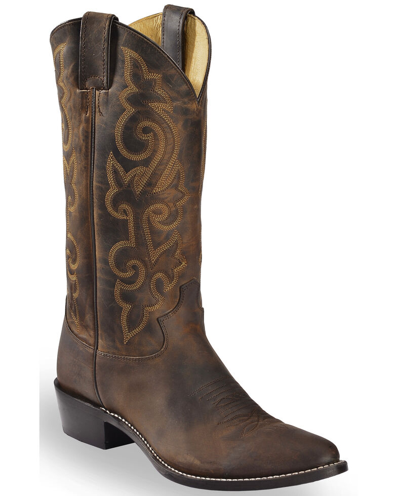 Justin Men's Bay Apache Leather Cowboy Boots - Medium Toe, Brown, hi-res