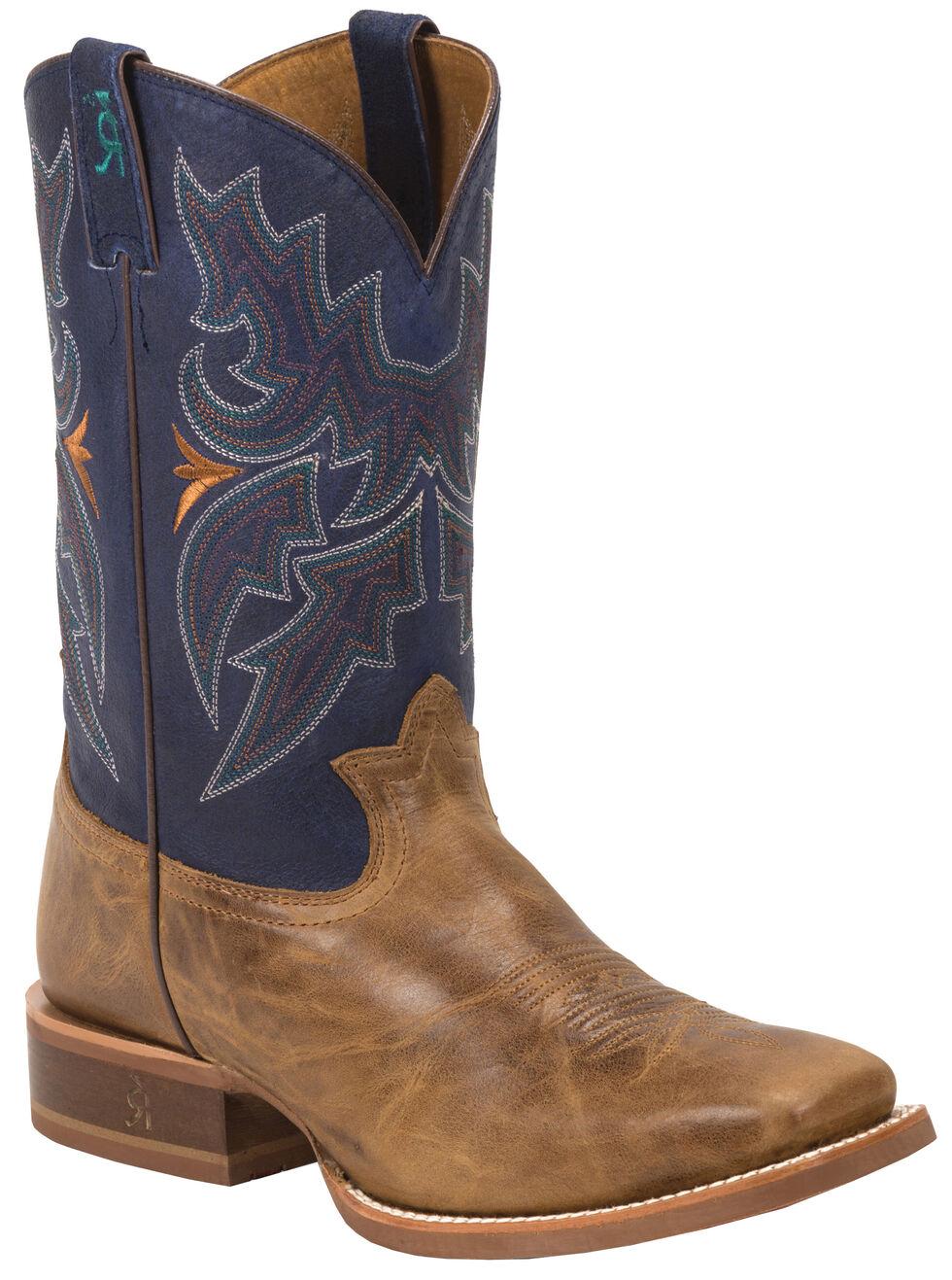 Tony Lama Honey Sierra 3R Stockman Cowboy Boots - Square Toe , Honey, hi-res