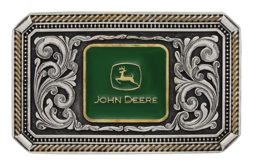 Montana Silversmiths Men's John Deere Cameo Attitude Buckle , Silver, hi-res
