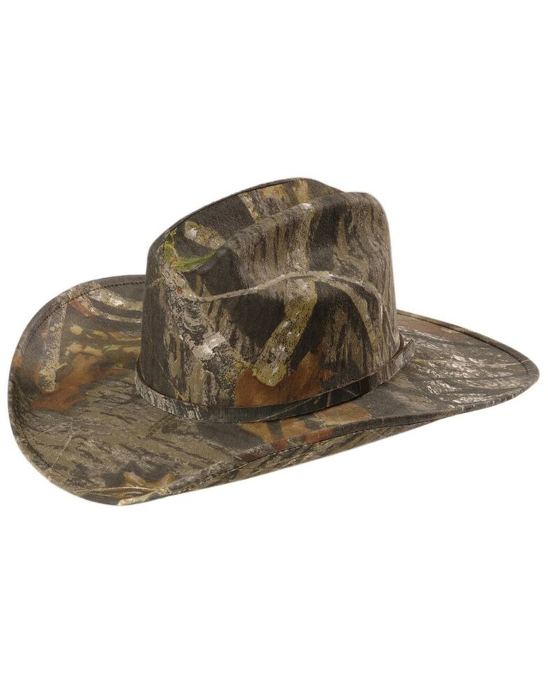 Twister Camouflage Canvas Cowboy Hat, Camouflage, hi-res