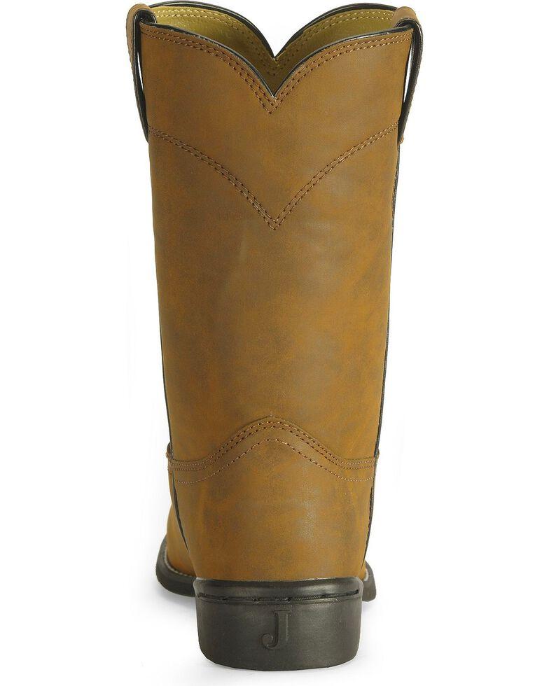 Justin Men's Basics Roper Cowboy Boots - Round Toe, Bay Apache, hi-res