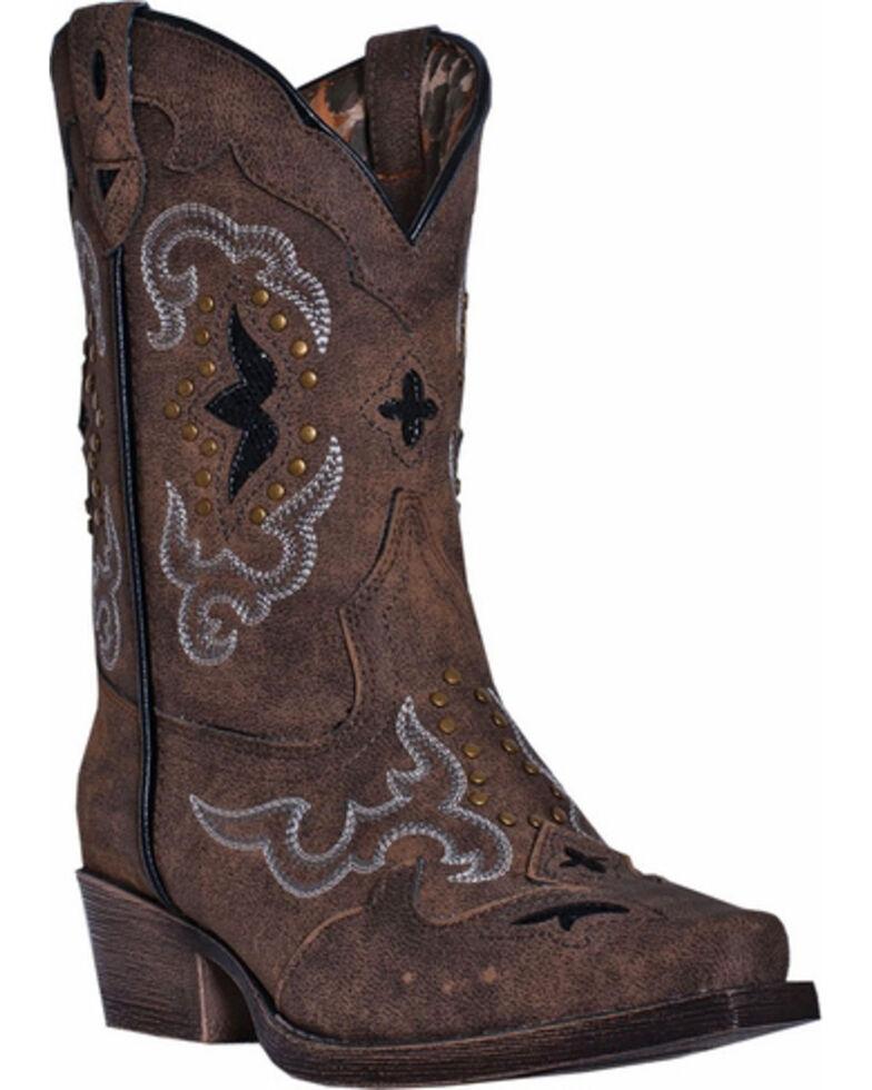 Dan Post Girls' Rulay Cowgirl Boots - Snip Toe, Brown, hi-res