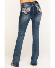 "Grace in LA Women's Classic Medium 34"" Bootcut Jeans, Blue, hi-res"