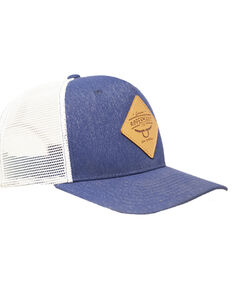 RopeSmart Leather Diamond Patch Snap Back Ball Cap, Navy, hi-res