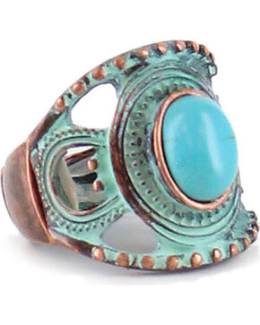 Shyanne Women's Turquoise Concho Ring , Turquoise, hi-res