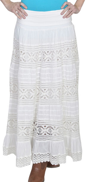 Scully Tiered Crocheted Skirt, Ivory, hi-res