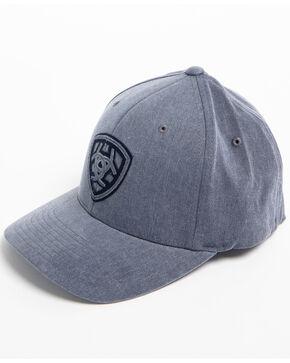 Ariat Men's Grey Distressed Signature Logo Cap, Grey, hi-res