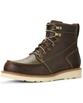 Ariat Men's Recon Lace-Up Work Boots - Moc Toe, Brown, hi-res