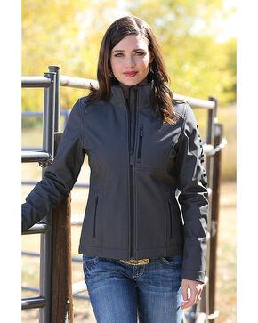 Cinch Women's Black Herringbone Printed Bonded Jacket , Black, hi-res