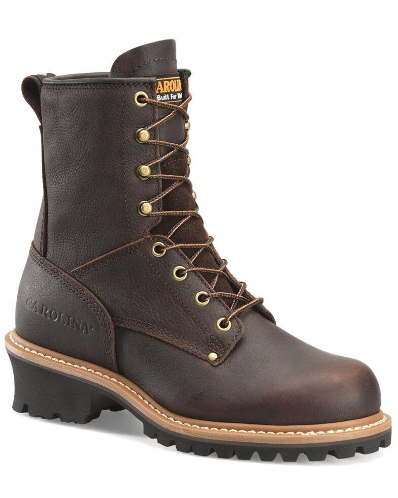 Carolina Women's Elm Logger Work Boots - Steel Toe, Dark Brown, hi-res