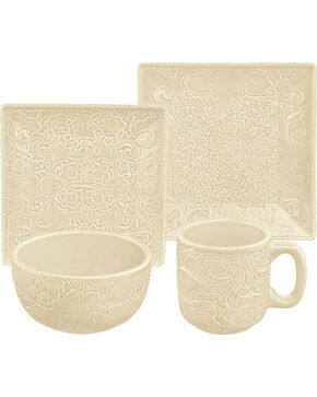 HiEnd Accents Savannah 16-Piece Dinnerware Set - Cream, Cream, hi-res