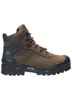 Wolverine Men's Warrior Met Guard Work Boots - Composite Toe, Brown, hi-res
